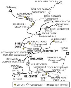 Click on image to view larger camping map.
